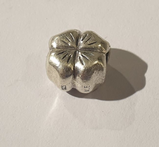 e3389587a86cf Pandora Silver Lucky Four Leaf Clover Charm #790157 Retired Authentic